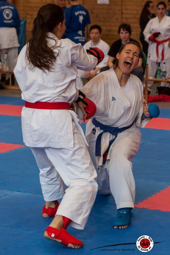 Treffer und Punkt für Johanna (rechts)