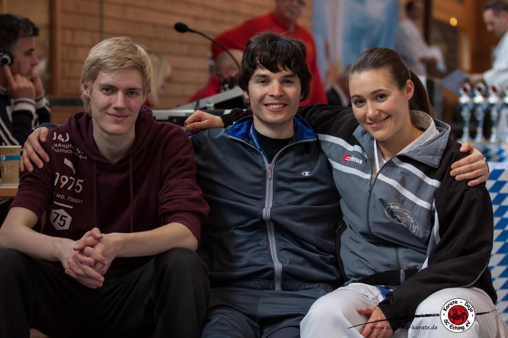 Unser kleines aber feines Team. (v.l.)Leon Sotzko, Fabian Hoenicker, Johanna Sedlmeir