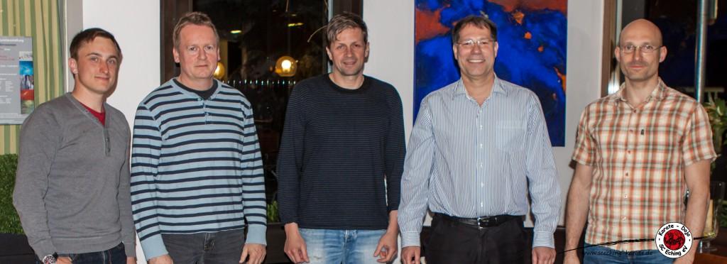(v.l.) Marco Fükelsberger, Dr. Dietmar Wagner, Gerhard Hross, Oliver Schäffler, Armin Gabler, nicht auf dem Bild Volker Becher