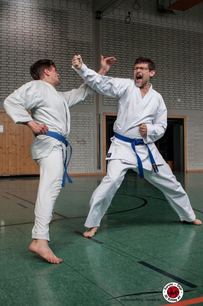 Freikampf mit Gerhard links und Ulrich rechts