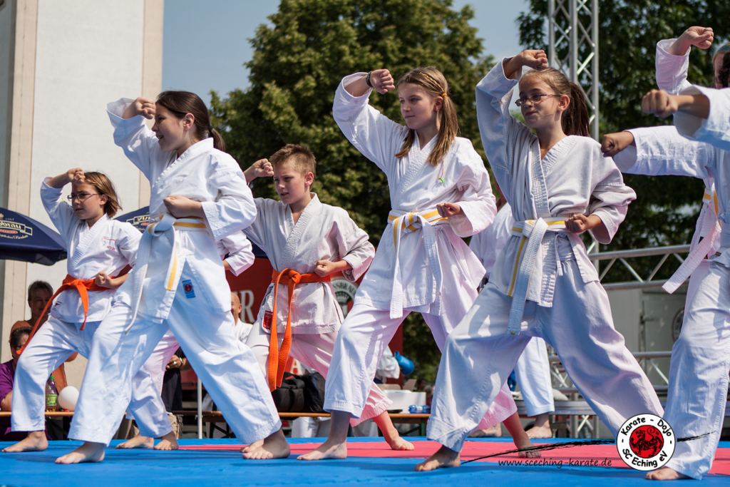 Starke Abwehr: Die Karate-Kids am Echinger Bürgerfest
