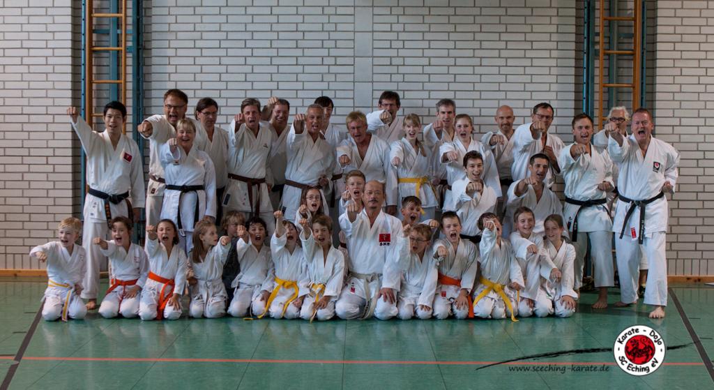 Alle Teilnehmer des Sc Eching Abteilung Karate
