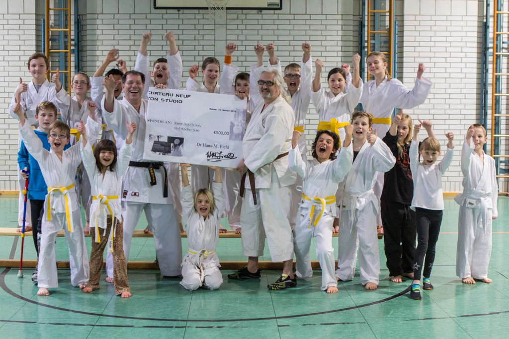 Karate-Kids sagen Danke